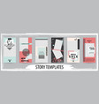 trendy editable template for social networks vector image vector image