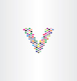 v letter logo halftone icon vector image vector image
