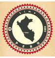 Vintage label-sticker cards of Peru vector image