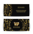 Vip invitation card party premium blank
