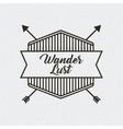wanderlust spirit design vector image