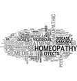what is classical homeopathy text word cloud vector image vector image