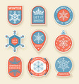 winter labels and badges elements set of vector image vector image
