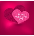 Valentines Day Card template EPS8 vector image