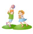 Playing kids vector image