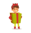 carnival costume kid vector image