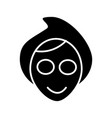 face spa mask icon black vector image