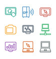 9 screen icons vector image vector image