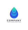 abstract modern water drop logo icon vector image