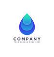 abstract modern water drop logo icon vector image vector image