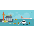 Airport Terminal Ground Work vector image