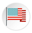 american flag icon circle vector image