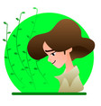 avatar boy on a green background vector image vector image