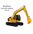 backhoe hydraulics digging machine vector image