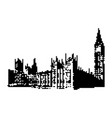 big ben clock tower and parliament house at city vector image vector image