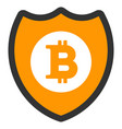 bitcoin shield flat icon vector image