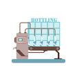 bottling of milk equipment production of milk vector image