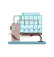 bottling of milk equipment production of milk vector image vector image