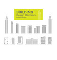 building design elements vector image