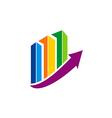 Business finance chart colorful arrow logo