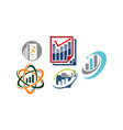 business success solutions set vector image vector image