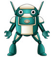cartoon robot character isolated on white backgrou vector image vector image