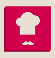 chef hat and moustache sign grayscale vector image vector image