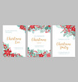 collection of christmas party invitations holiday vector image vector image