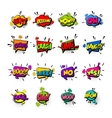 Comic set colored sound effects pop art vector image vector image