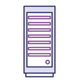 computer tower isolated icon vector image