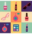 Cosmetics Set Icons Set Cosmetology Fashion vector image