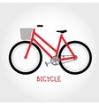 Cruiser bicycle isolated vector image