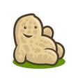 cute peanut baby - cartoon character mascot vector image