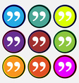 Double quotes at the end of words vector image