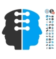 Dual Head Interface Icon With Free Bonus vector image vector image
