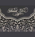 elegant thank you card invitation vector image vector image