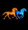 Fair Horse Run2 07 vector image vector image