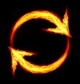 Fire circular arrows vector image vector image