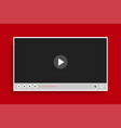 flat style clean modern video player template vector image vector image