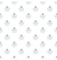 flower house pattern seamless vector image vector image