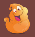 funny cartoon blob ghost vector image vector image