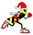 Funny wasp vector image vector image