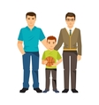 Gay couple with a child vector image vector image