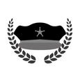 grayscale police badge icon image vector image vector image