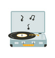 hand drawn of a music record player vector image