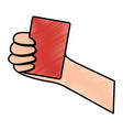 hand holding card sport icon vector image vector image