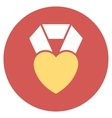 Heart Award Flat Round Icon vector image vector image