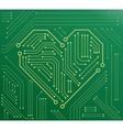 heart motherboard vector image vector image
