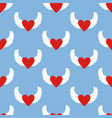 heart with wings pattern vector image