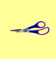 iron stationery scissors vector image